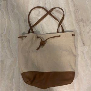 Handbags - Beige and brown shoulder bag